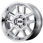 XD-Series Rockstar Dually XD775 Chrome Rear Wheel (17x6