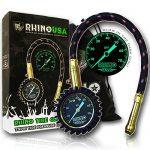 Rhino USA Heavy-Duty Tire Pressure Gauge (0-75psi)