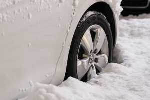 how to get my car unstuck in snow